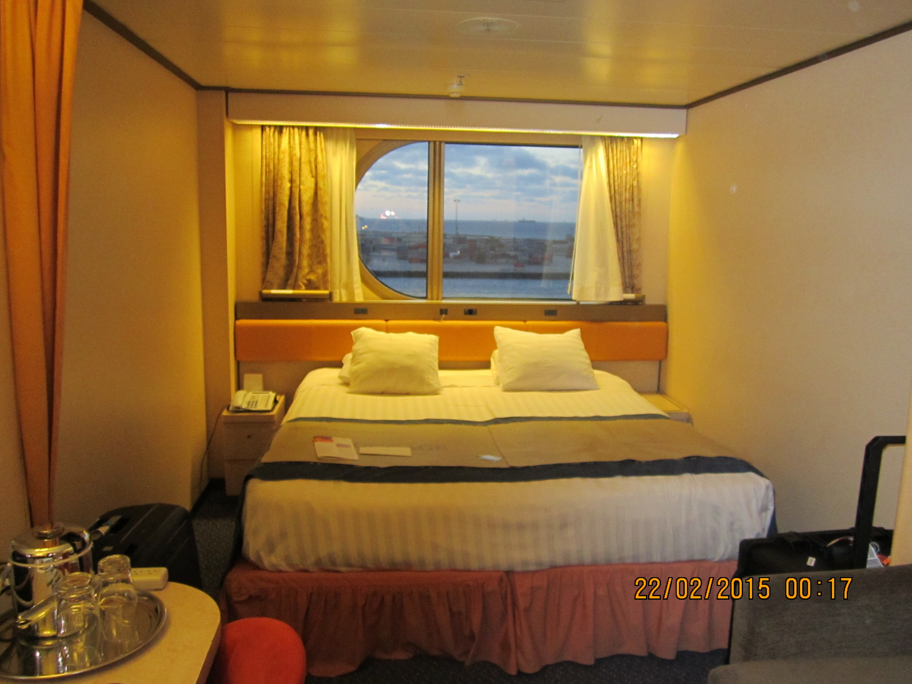 My Room onboard the Holland America Cruise